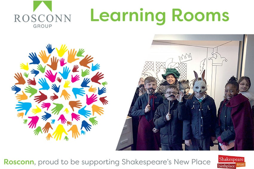 Community Projects - Shakespeare New Place - Learning Rooms - Leaflet Image