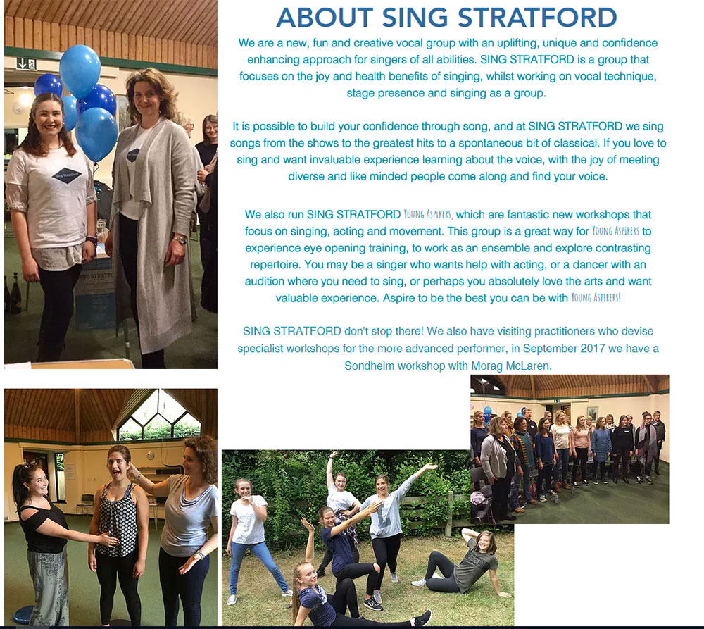News - Rosconn Group supports Sing Stratford - Sondheim in September - Sunday, 17th