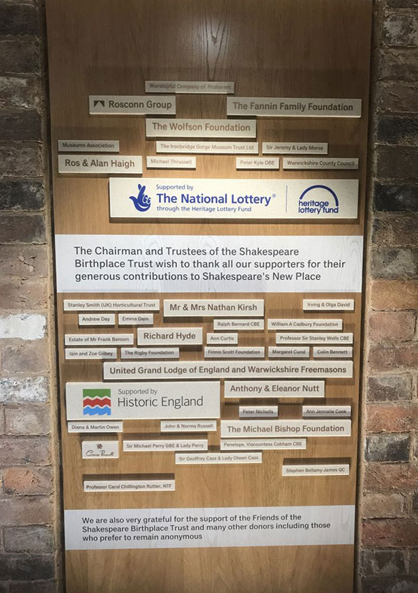 Foundadtion - News - Sponsorship of New Place Learning Rooms