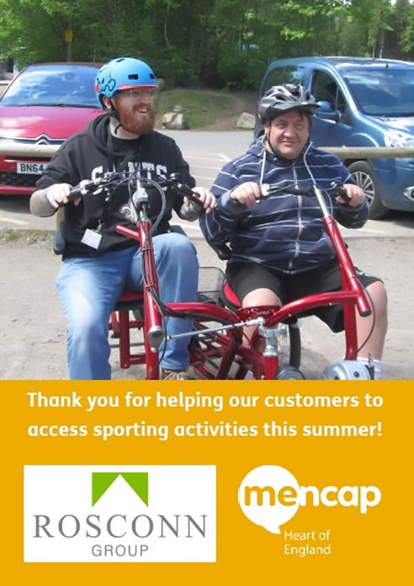 Foundation - News - A Thank You from Mencap Heart of England